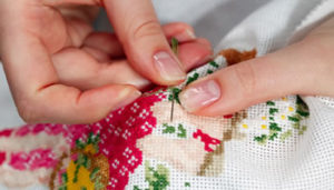 Needlework and cross-stitching make a surprise comeback and its younger women leading the way