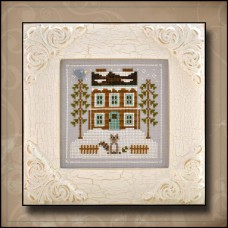 Country Cottage Needleworks - Frosty Forest 1 - Raccoon Cabin