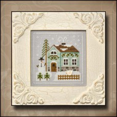 Country Cottage Needleworks - Frosty Forest 3 - Snowman's Cottage