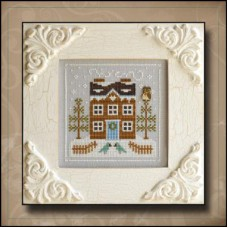 Country Cottage Needleworks - Frosty Forest 5 - Bluebird Cabin