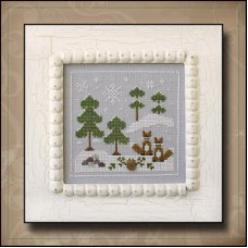 Country Cottage Needleworks - Frosty Forest 6 - Snowy Foxes