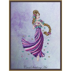 Cross Stitching Art - Rapunzel