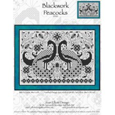 Joan Elliott - Blackwork Peacocks