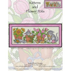 Joan Elliott - Kittens & Flower Pots