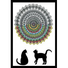 Design Works - Zenbroidery - Cat Mandala