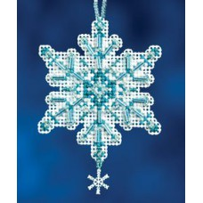 Mill Hill Mini - Snow Crystal - Aqua Crystal