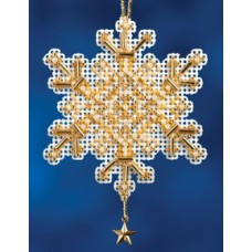Mill Hill Mini - Snow Crystal - Gold Crystal