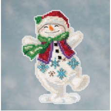 Mill Hill - Jim Shore - Snowman Dancing
