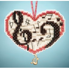 Mill Hill Mini - Charmed Ornament - Love Notes