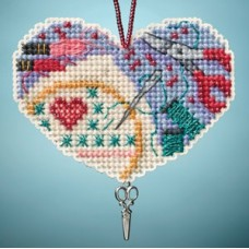 Mill Hill Mini - Charmed Ornament - Love Stitching