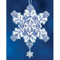 Mill Hill Mini - Snow Crystal - Sapphire Crystal