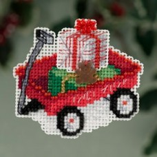 Mill Hill Mini - Winter Holiday - Red Wagon