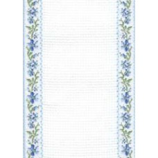 Band - 18ct Blue Fleurs Stitching Band (1 Yard)