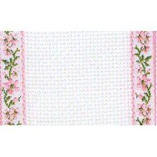 Band - 18ct Pink Fleurs Stitching Band (1 Yard)