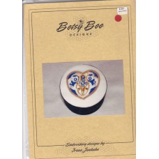 Sale - Betsy Bee Designs - Blue Heart Beaded Trinket Box