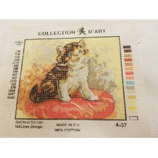 Tapestry Canvas - Cat Cushion