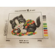 Tapestry Canvas - Cat Quilt