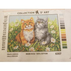 Tapestry Canvas - Pair of Cats