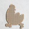 Wooden Magnet Chicken B2 Outside